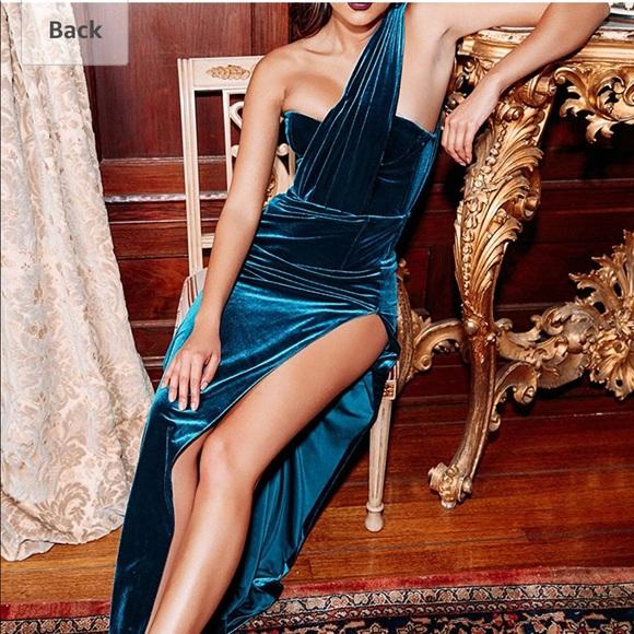 Dresses & Skirts - Teal/Blue Velvet Goddess Dress/Gown/Maxi